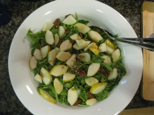 Pear and Candied Walnut Side Salad