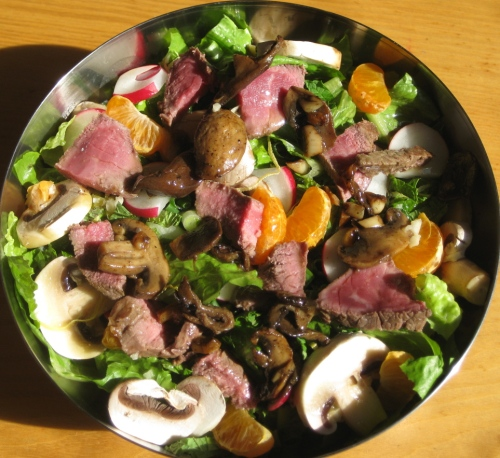 Two Salads in One - Steak