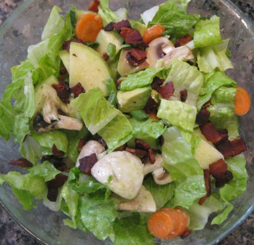 Playing with Buttermilk Ranch Vinaigrette, Glass Bowl