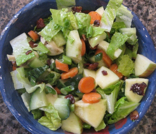 Playing with Buttermilk Ranch Vinaigrette, Ceramic Bowl