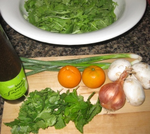 Thai Pepper Sauce Salad with Mandarins and Arugula Ingredients