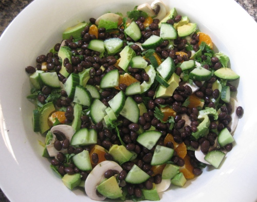 Southwestern Salad with Black Beans, Avocado, Mandarin, and More - Ready to Toss