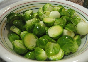Roasted Brussels Sprouts and Arugula Side Salad