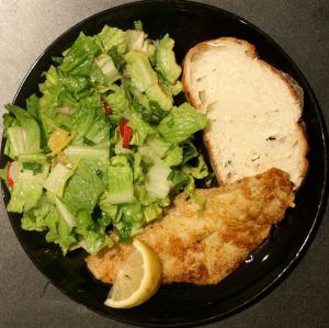 Simple Citrus Side Salad with Radish and Avocado, Plated