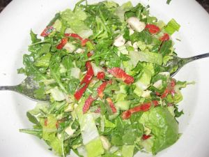 Salad with Kefir Rice Wine Vinaigrette with Fennel Powder