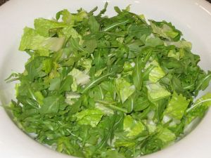 Salad with Kefire Rice Wine Vinaigrette with Fennel Powder