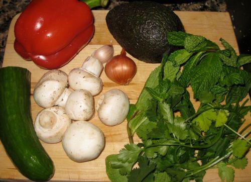 Salad with Kefir Rice Wine Vinaigrette with Fennel Powder
