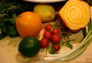 Ingredients for Triple Citrus Side Salad