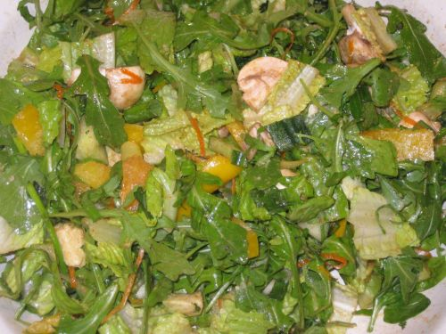 Recipe for Salad with Sweet Southwestern Citronette, Arugula, Avocado, and Navel Orange