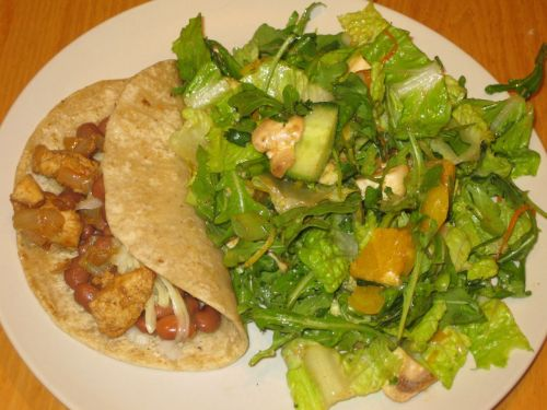 Recipe for Salad with Sweet Southwestern Citronette with Arugula, Avocado, and Navel Orange: Plated