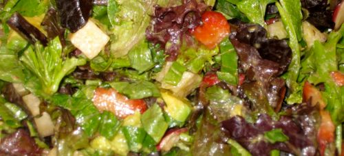 Recipe for Spring Salad with Strawberry Balsamic Vinaigrette, Avocado, Jicama, and Radishes